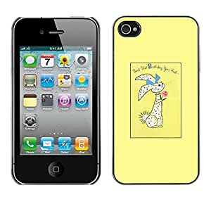 Omega Covers - Snap on Hard Back Case Cover Shell FOR Apple iPhone 4 / 4S - Easter Bunny Holidays Rabbit