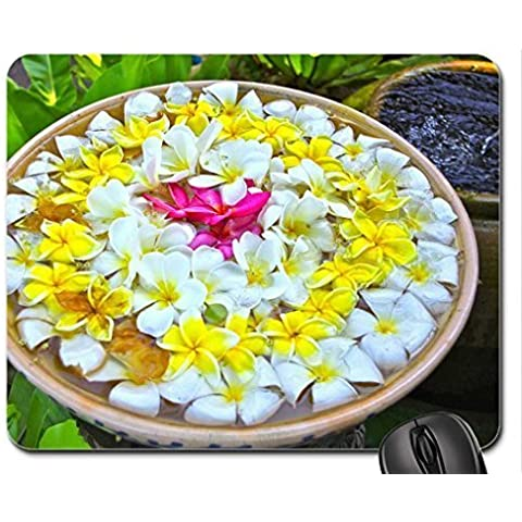 Bowl of Plumerias at a Spa Mouse