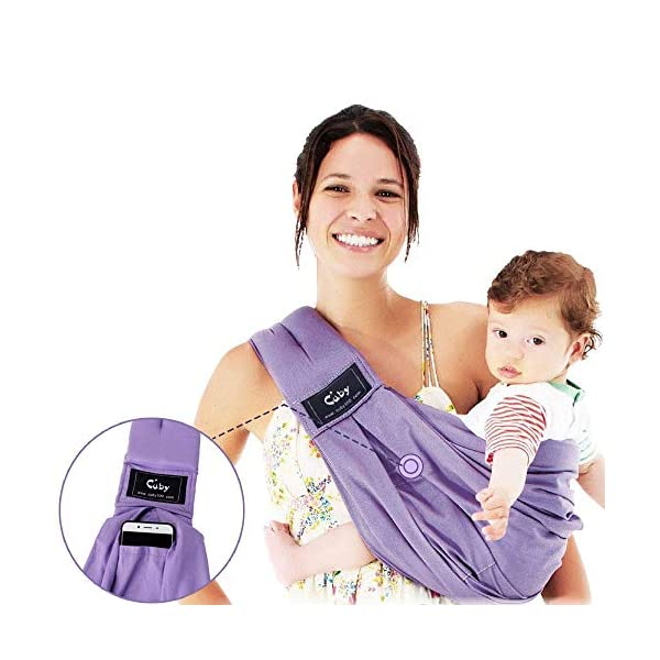Cuby Baby Slings Carrier for Newborns and Breastfeeding (Purple) CUBY  3