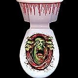 Halloween WC-Sticker, gruselige Party-Dekoration, blutiges Zombie-Motiv 3 Style