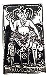 Anstecker - The Devil Karte - Tarot Devil Karte Anstecker Revers Anstecker Krawattennadel Knochen Silber Effekt Emo Gothic Okkult Magick