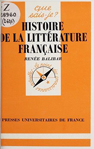 Livre Histoire de la littérature française pdf ebook