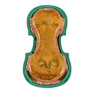 ammoon Transparent Yellow Rosin Colophony Low Dust Handmade with Violin-shaped Plastic Box Universal for Violin Viola Cello Erhu Bowed String Musical Instruments