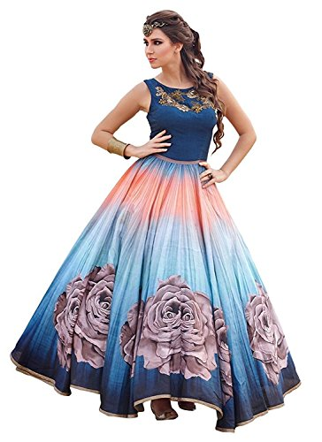 Lady Loop Women\'s Cotton Gown (LLCHOLI111 _Blue _Free Size)