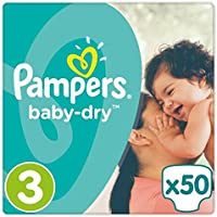 Pampers Baby Dry Taille 3Essential Lot de 50couches