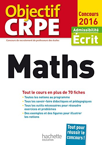 Objectif CRPE En Fiches Maths - 2016