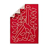 Rosendahl 39442Kay Bojesen Manta de lana, lana virgen, rojo, 120x 80x...