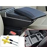 MyGone Golf 7 armlehne Box Auto Styling zentrale speicherinhalt Box getränkehalter Innen Auto-Styling Dekoration zubehör Schwarz + Werkzeug
