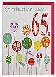 Geburtstagskarte 65 mit Glimmerlack