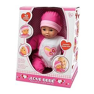 Love Bebe - Poupon 38cm 12 Fonctions