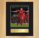 Steven Gerrard Liverpool Celebration Signed Mounted Photo Display