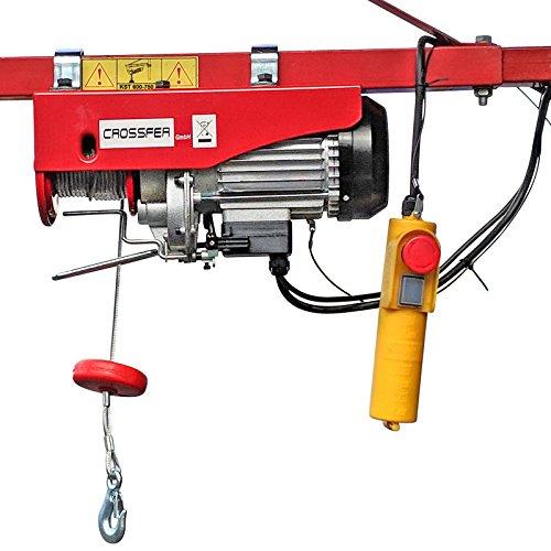 CROSSFER PA400A Elektrischer Seilhebezug 230Volt für 200kg/400kg Last...