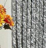 Türvorhang Flauschvorhang Flauschi Chenille 90x200 silberweiss