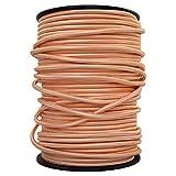 smartect Cavo elettrico Tessuto - Rame - 5 Metro cavo tessile intessuto - Tripolare (3 x 0.75mm²) - Cavo elettrico rivestito per Fai da Te