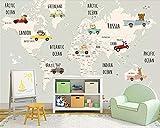 Custom children room background wall 3d wallpaper cartoon world map animal background murals wallpaper for walls 3 d,200cmX140cm