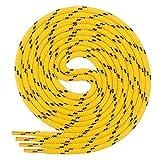 Di Ficchiano runde SCHNÜRSENKEL für Arbeitsschuhe und Trekkingschuhe - sehr reißfest - ø ca. 4,5 mm, Polyester - SP-01-yellow/black-150