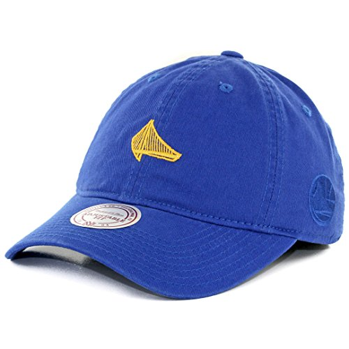 Mitchell & Ness Elements Slouch Strapback, Mädchen damen Jungen unisex Herren, Golden State Warriors