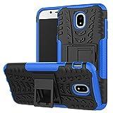 Skytar Galaxy J5 2017 DUOS Schutzhülle,Case für Samsung J5 2017,Hybrid Armor Design Hart PC + TPU Gel Silikon Hülle für Samsung Galaxy J5 2017 DUOS / SM-J530F Handy Tasche mit kickstand,Blau