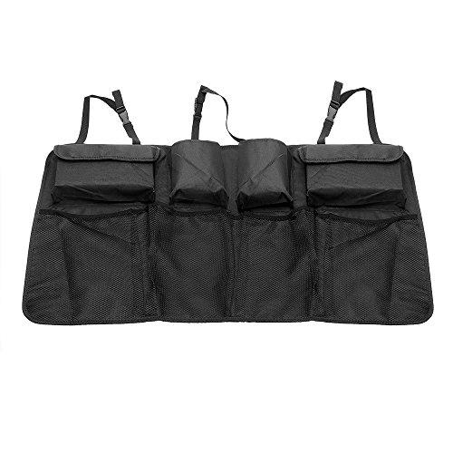 itimo Auto-Kofferraum-Organizer mit Taschen, Netz Auto Rücksitz Organizer Stow tidying Rücksitz-Tasche (car-styling Multi, schwarz, mit Tasche)