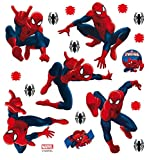 AG Design Marvel Spider Man Wand Sticker, PVC-Folie (Phtalate-Free), Mehrfarbig, 30 x 30 cm