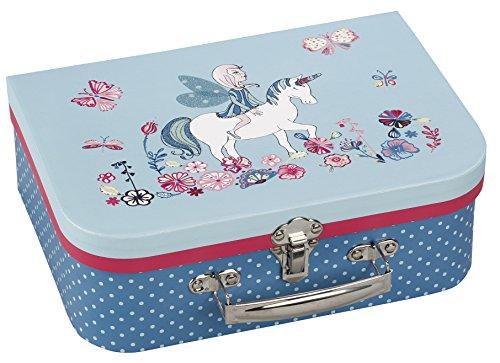 Viquel Valisette Carton enfant - Mallette - accessoire de rangement - Licorne - 26 cm - Bleu