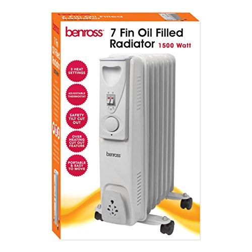 51lwyWcmocL. SS500  - BENROSS 42690 7-Fin Mini Oil Filled Radiator, 1500 Watt, Steel, W