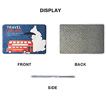 Amzbeauty Welcome Doormat For Entrance Way Personalized Print Decorative Funny Exterior Door Mat Non-slip Water Absorbent Footprint Rug 3