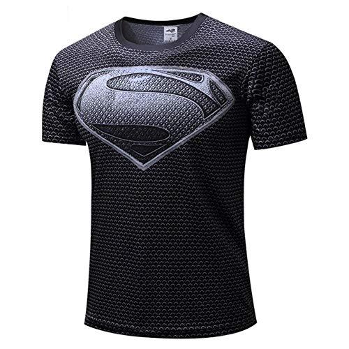 XiangYu Fahrrad T-Shirt, Marvel Thema Schnelltrocknend Atmungsaktiv Unisex Sommer Sporttrikot Captain America-a-XXL - Captain America-fahrrad