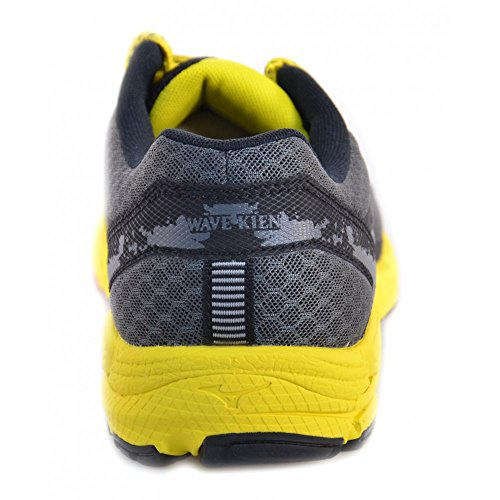 Mizuno–Mizuno Wave Kien Scarpe da corsa grigio giallo 147303 Noir-Jaune