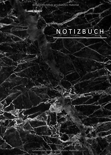 Notizbuch: Kleines Marmor Notizbuch A6 kariert ohne Rand   Notizheft   Skizzenbuch   Bullet Journal   Planer   Notizen   110 Seiten, glänzendes Softcover.