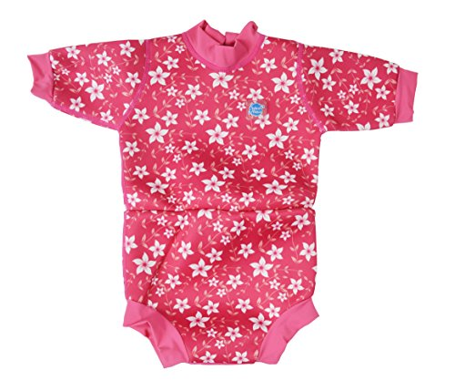 Splash About Happy Nappy Neoprenanzug, Rosa - Rosa (Pink Blossom), X-Large/12-24 Monate