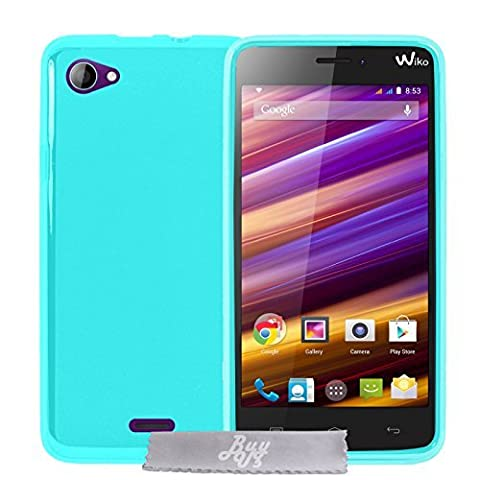 Coque Gel transparent Turquoise Wiko Jimmy + Stylet + 3 Films OFFERTS