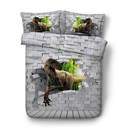 Urlaub Königin Tröster (G'z 3D Bettwäsche-Sets Plaid Dinosaurier Bettbezug Tier Tagesdecken Bettwäsche Bettwäsche Bettbezüge Kissen Shams (Ohne Tröster) 3pc (größe : Cal King))