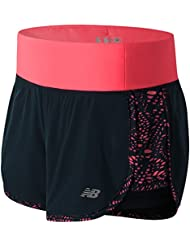 NEW BALANCE Impact 2 in1 Short, color Rosa, tamaño S