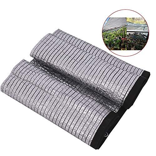 PHCLL 85% Sonnenschutznetz Netto Aluminiumfolie Gewächshaus Balkon Schatten Tuch UV-Schutz Blume Pflanze,13.1 * 16.4ft/4 * 5m