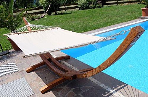 Amaca XXL deluxe nobile 410cm con cornice in legno larice mod. 'DOMINICA'