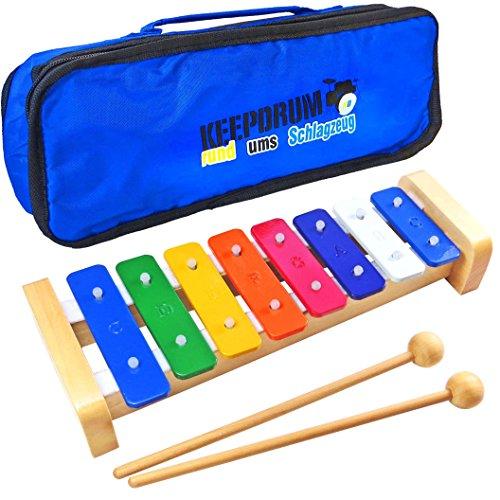 keepdrum KGS1 Glockenspiel mit Holzschlägel + Tasche MB-01