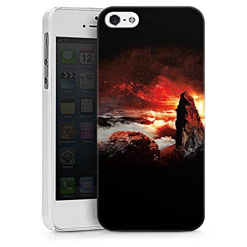 Apple iPhone X Silikon Hülle Case Schutzhülle Wolken Fantasie Berge Hard Case weiß