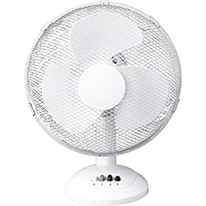 "Electrical 12"" 3 Speed Oscillating Desk Top Fan With Adjustable Tilt For Office and Home"