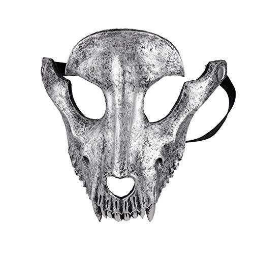 MDenker Maske Festliche Requisiten Halloween Karneval Party Schaf Knochen Maske Hochwertige Kopf Lochaugen Leicht zu Sehen Weihnachten Party Kostüm -