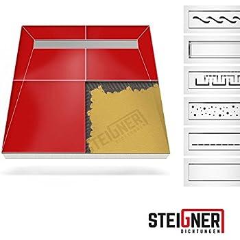 befliesbares duschelement 120x90 cm mit edelstahlrinne 80 cm komplett baumarkt. Black Bedroom Furniture Sets. Home Design Ideas