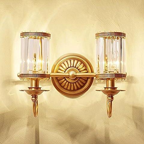 SLitteR Lighting Amerikanischen Continental Kristallwandlampe Studie Schlafzimmer Nachttischlampe Treppe Raum