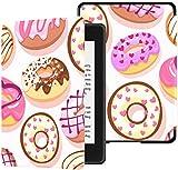Custodia Kindle Paperwhite Colorate Ciambelle Spruzza Seamless Pattern Doodle Custodia Kindle Paperwhite Custodia per ragazze Con risveglio/sonno automatico Custodia protettiva per e-reade