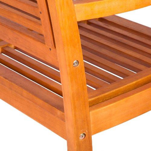 Ultranatura Gartenbank 3-Sitzer, Canberra – Serie – Edles & Hochwertiges Eukalyptusholz FSC zertifiziert – 158 cm x 61,5 cm x 89 cm - 4