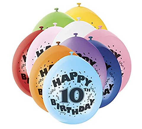 22,9 cm Latex Ballons, Happy Birthday sortiert 10