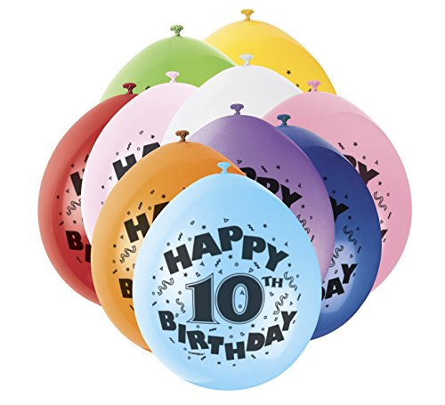 s 22,9 cm Latex Ballons, Happy Birthday Sortiert 10 Stück ()