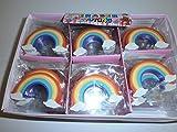 12 Radiergummi Regenbogen Rainbow Mitbringsel Kindergeburtstag Posten
