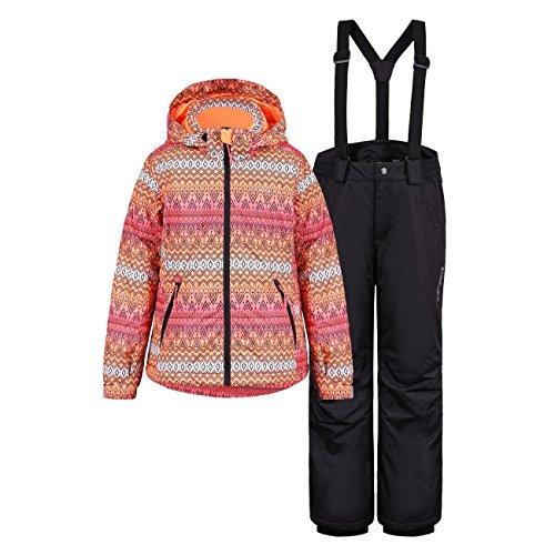 Icepeak Kinder Mädchen Skianzug Mehrfarbig, Farbe:Orange;Bitte Größe wählen:152