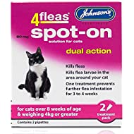 Johnsons 4Fleas Dual Action Spot On For Cats and Kittens (Cats Over 4kg)