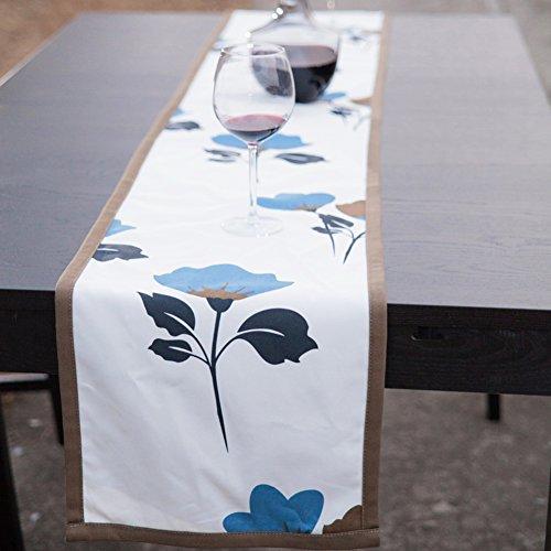 GXX Cinese-stile cotone pianta fiore table flags/ evitare stireria runner tavolo tavolo/letto corridore-A (35 Flags)
